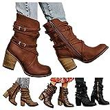 Damen Ankle Boots, Frauen Stiefeletten, Damen Stiefeletten,Rrunsv Frauen Ankle Boots,Comfort-Mehrweite, Reißverschluss Echtleder Reitstiefelette Stiefelette , Damen Stiefeletten, Frauen Ankle Boots
